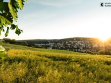 Neuhausen, Blick von Flurlingen Richtung Neuhausen