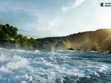Blick auf den Rheinfall in Neuhausen